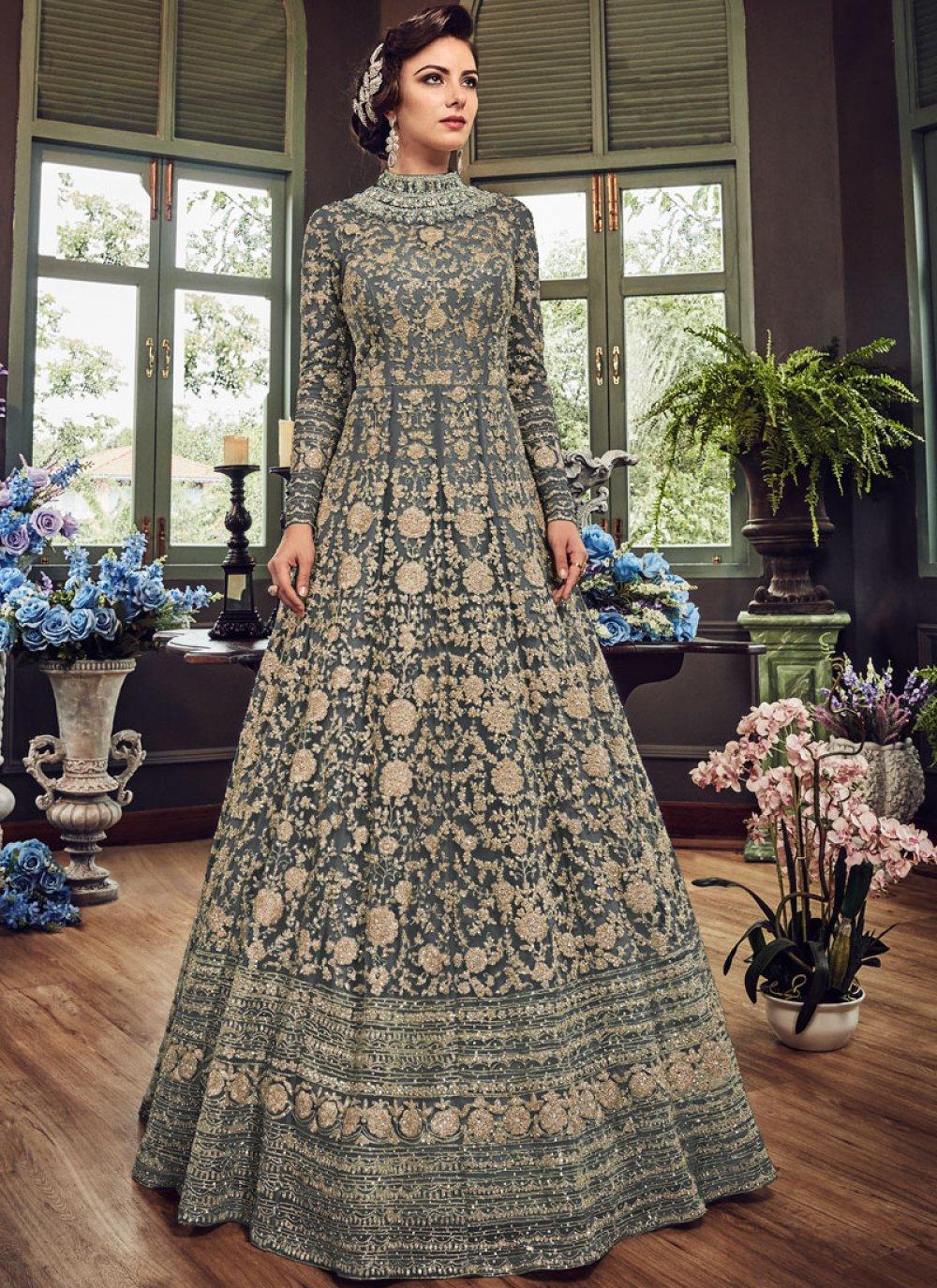 Floor Length Anarkali Suit For Wedding