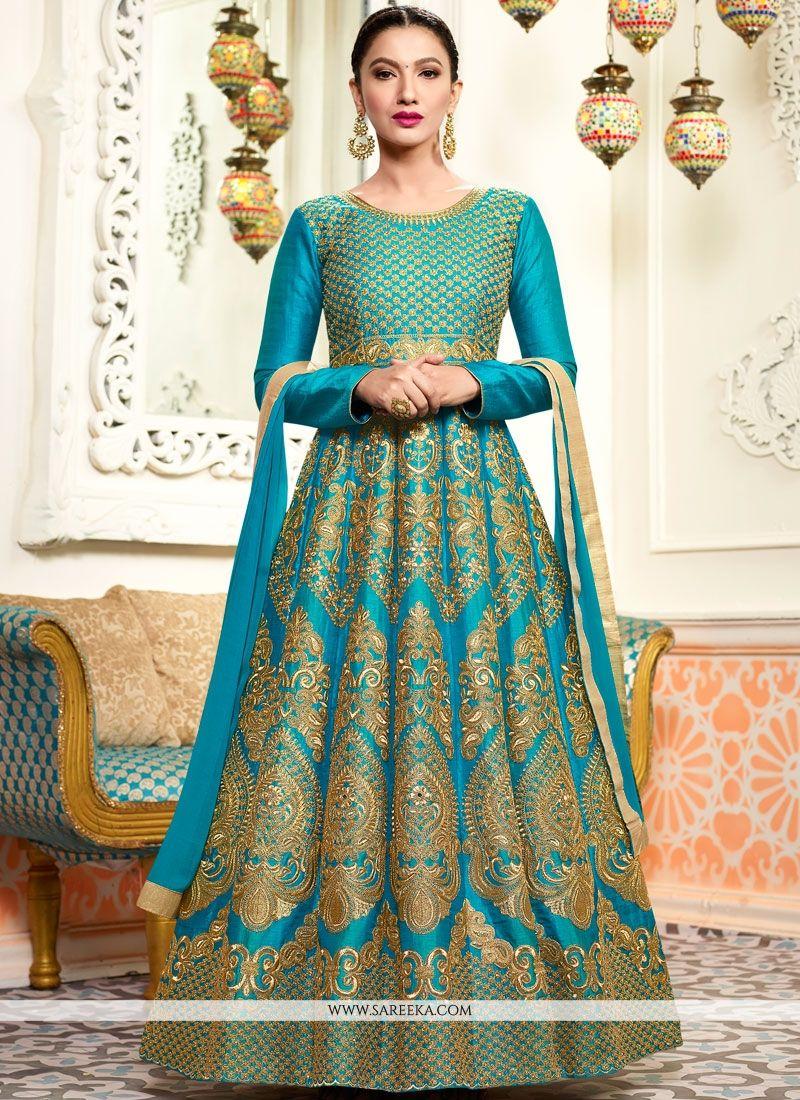 93d891a7c4 Shop Gauhar Khan Art Silk Floor Length Anarkali Suit Online : 71152 -