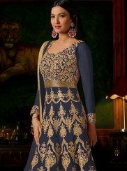 Gauhar Khan Lace Work Floor Length Anarkali Suit