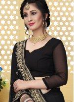 Georgette Designer Saree in Black