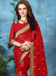 Georgette Embroidered Work Classic Saree