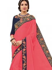 Georgette Embroidered Work Trendy Saree