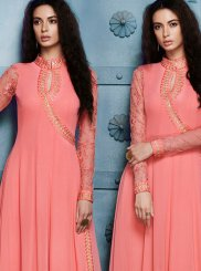 Georgette Lace Work Anarkali Salwar Kameez