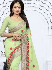 Georgette Lace Work Classic Designer Saree