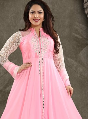 Georgette Pink Salwar Kameez