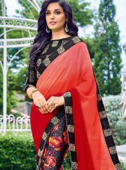 Georgette Printed Work Casual Saree