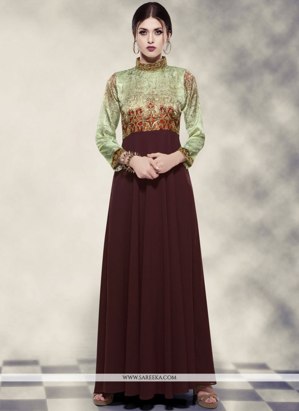 Georgette Readymade Gown