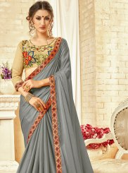 Georgette Thread Work Trendy Saree