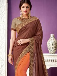 Georgette Zari Work Designer Saree