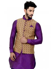 Giccha Silk Kurta Payjama With Jacket