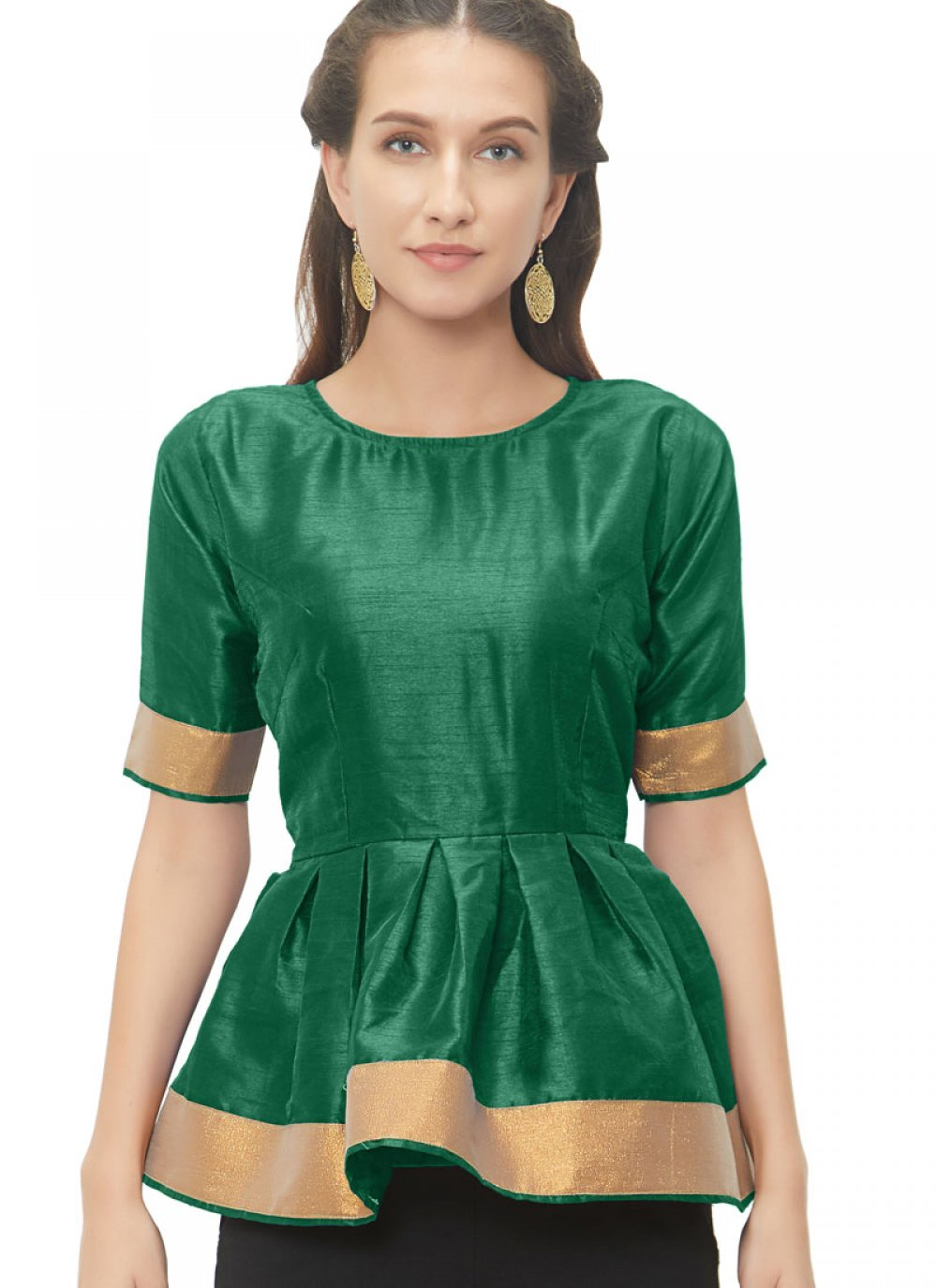 Glamorous Green Color Readymade Blouse