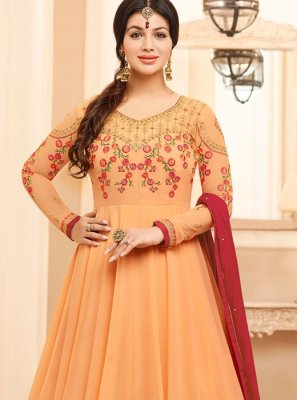 Glorious Peach Colored Salwar Kameez