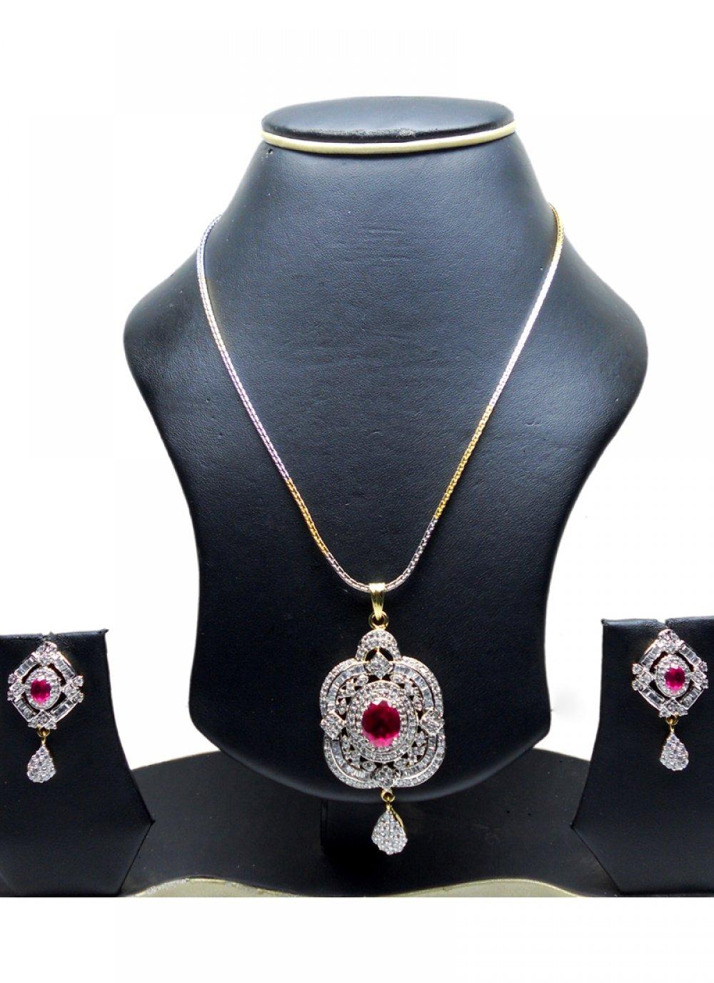 Gold and Silver Diamond Ceremonial Pendant Set