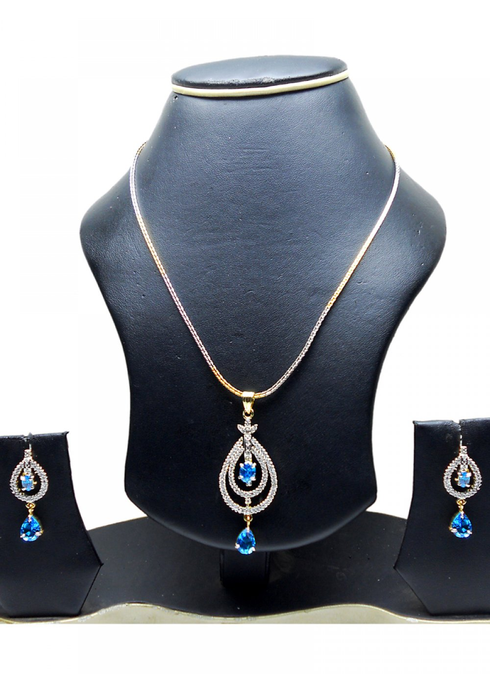 Gold and Silver Festival Pendant Set