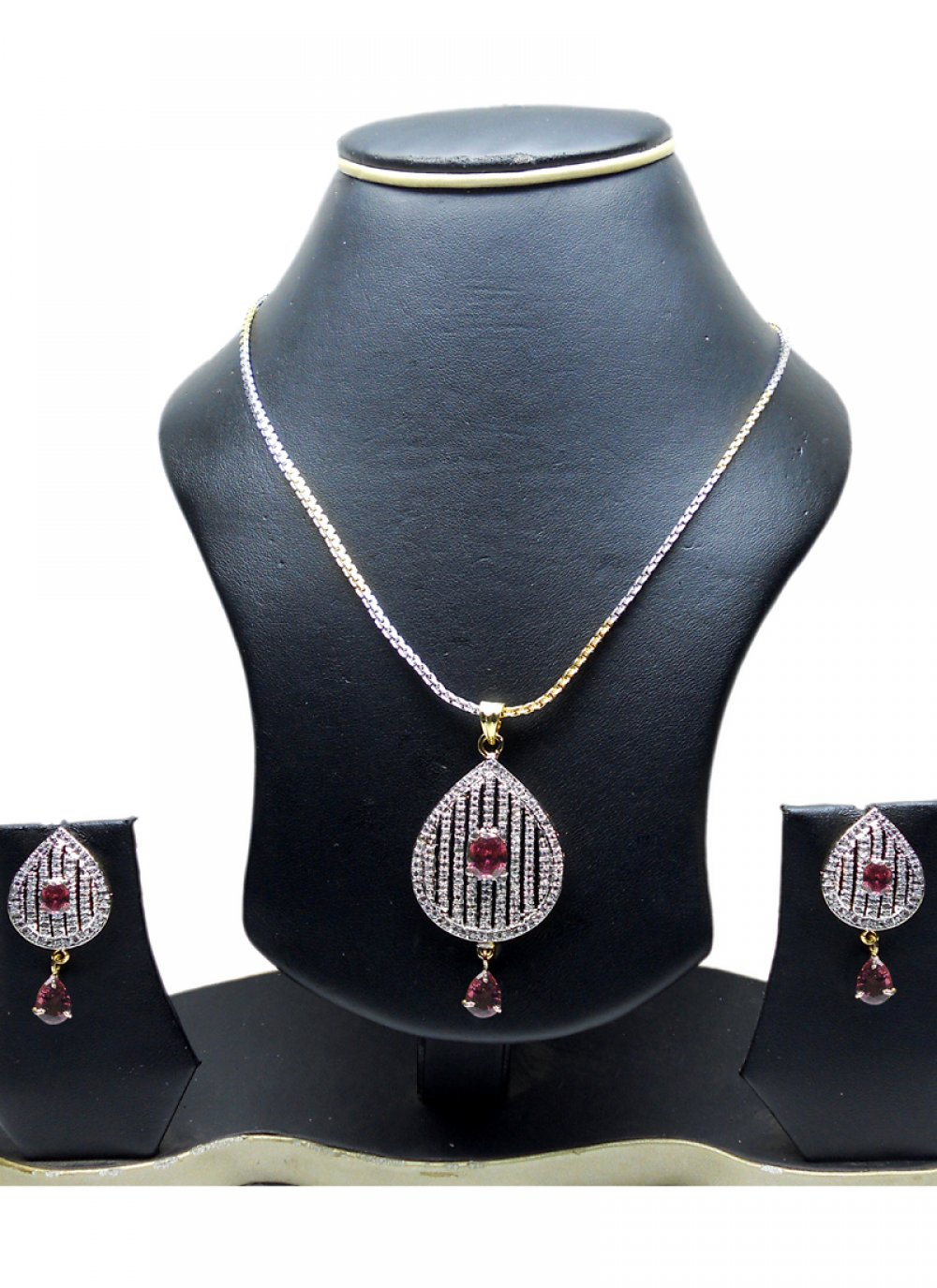 Gold and Silver Party Pendant Set