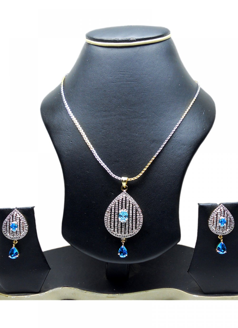 Gold and Silver Pendant Set