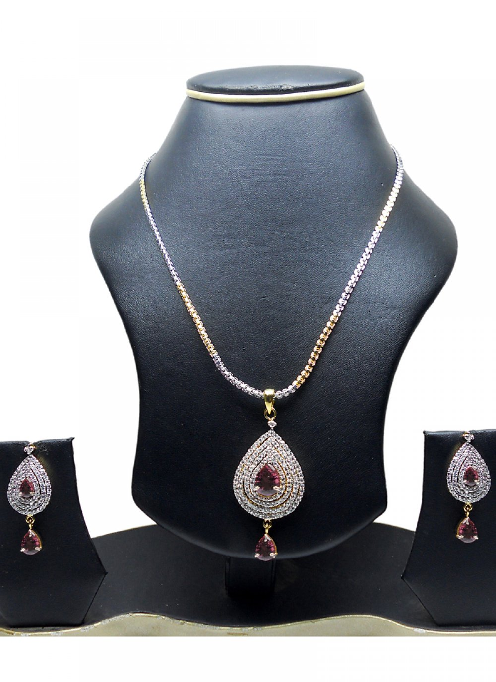 Gold and Silver Reception Pendant Set