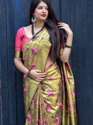 Gold Art Silk Weaving Designer Traditional Saree