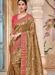 Gold Embroidered Designer Saree