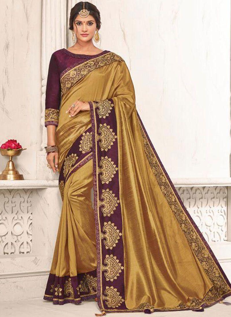 4e93a3d877 Buy Gold Patch Border Festival Designer Traditional Saree : 97141 -