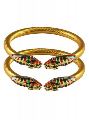 Gold Stone Work Party Bangles
