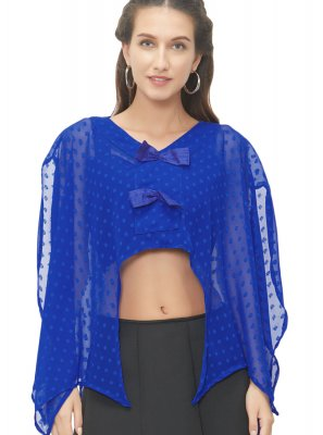 Gorgeous Royal Blue Color Readymade Blouse