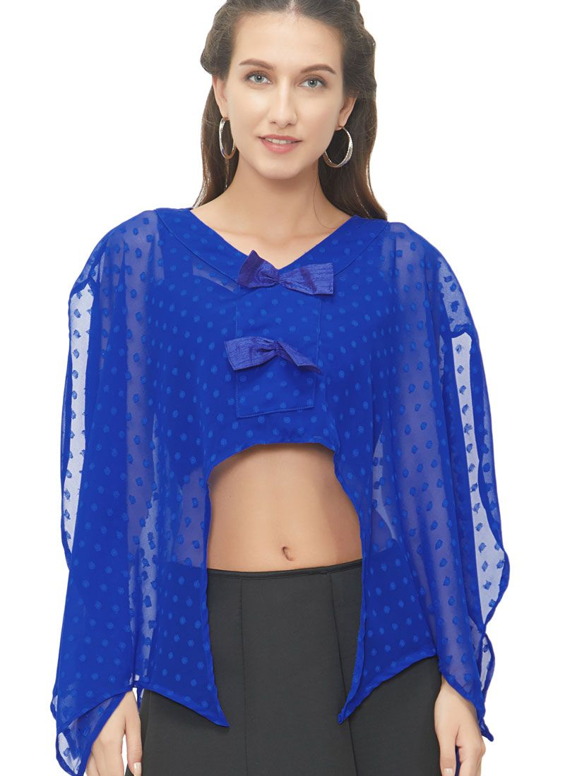 Gorgeous Royal Blue Color Readymade Blouse