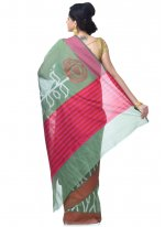 Green and Magenta Banarasi Silk Classic Designer Saree