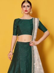 Green Art Silk Lehenga Choli