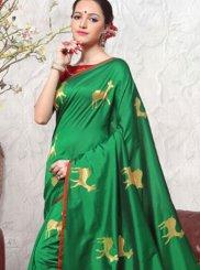 Green Art Silk Weaving Traditional Designer Saree