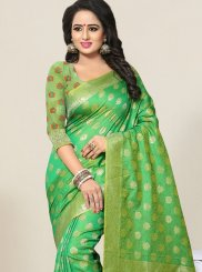 Green Banarasi Silk Designer Traditional Saree