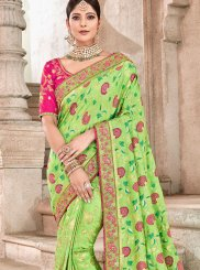 Green Banarasi Silk Wedding Traditional Designer Saree
