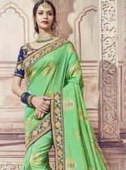 Green Banarasi Silk Zari Classic Saree