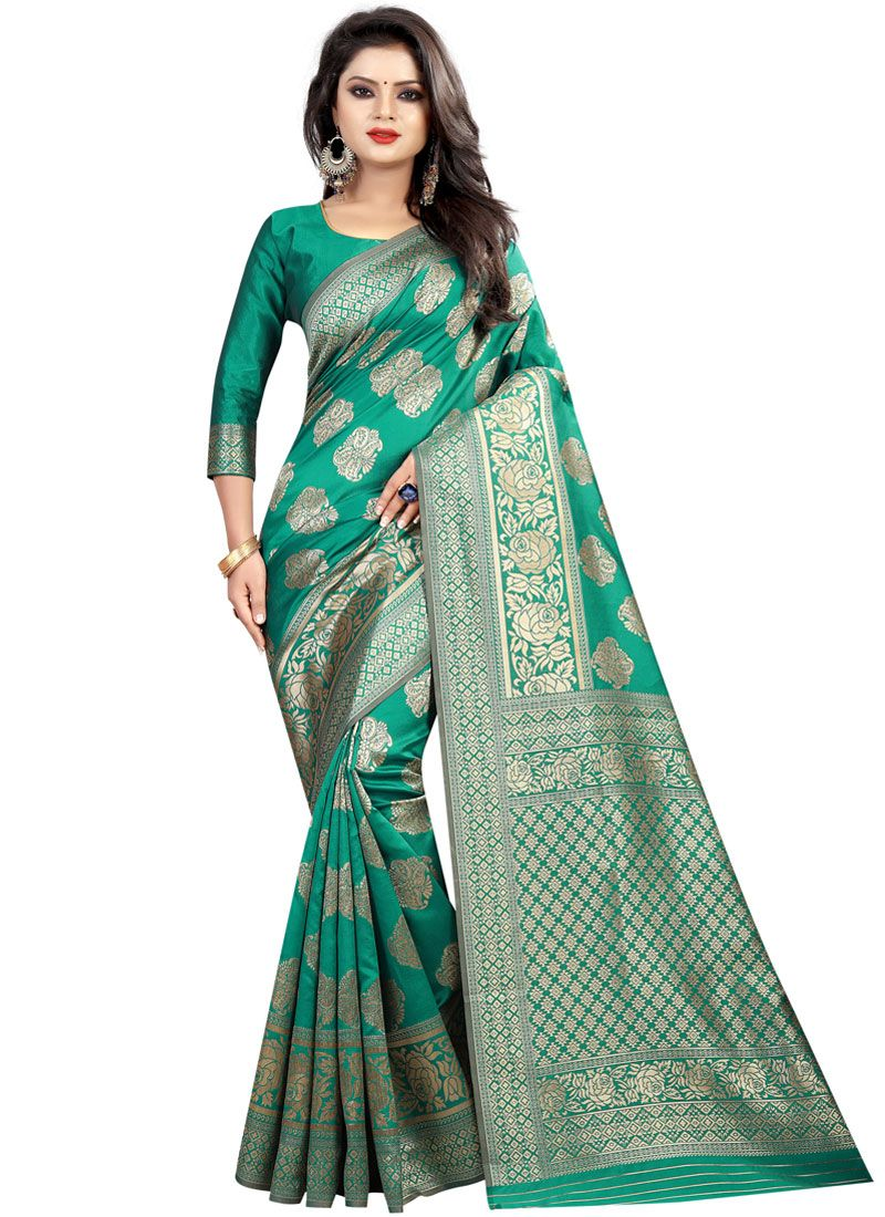 Green Ceremonial Classic Saree