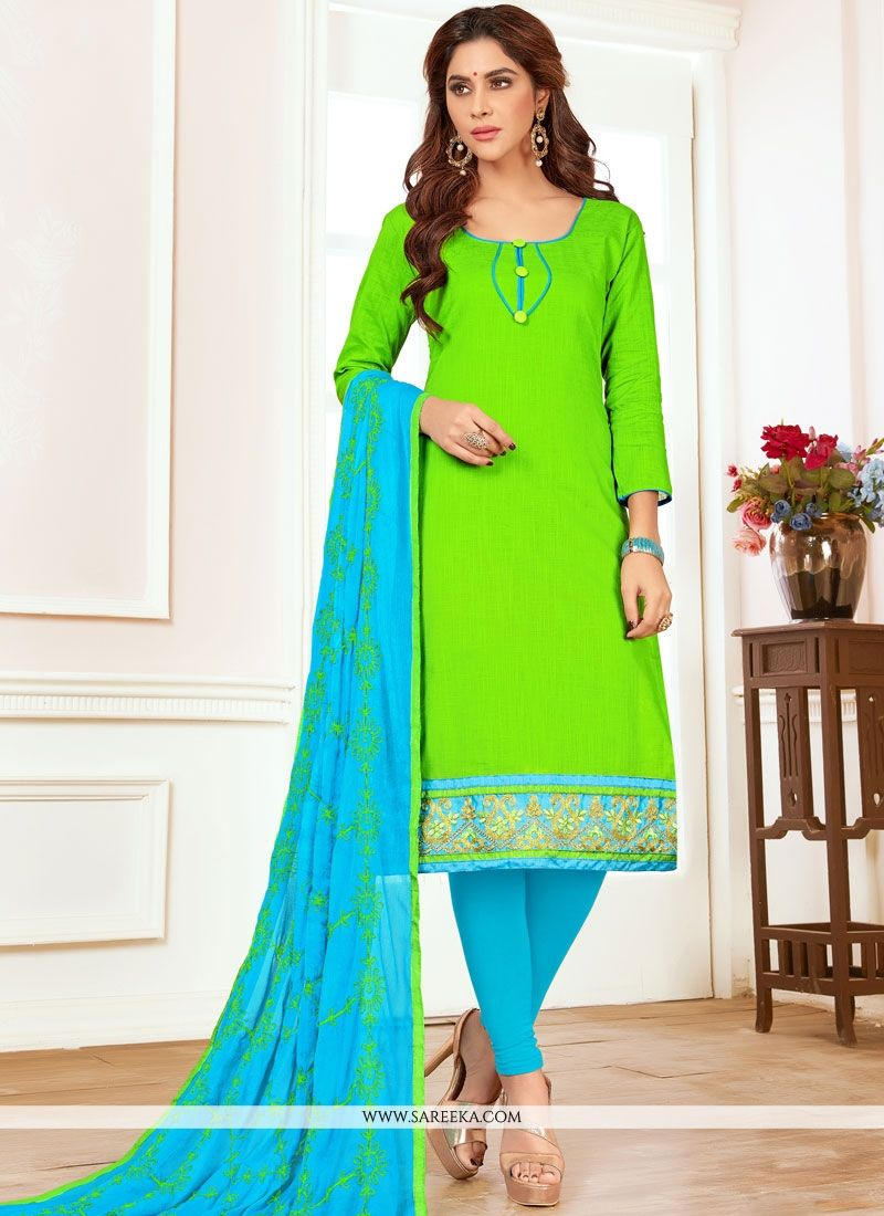 Green Churidar Suit