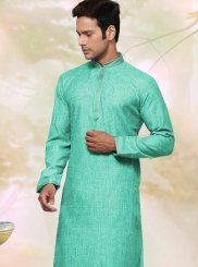 Green Cotton   Kurta Pyjama
