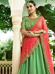 Green Embroidered Silk Designer Lehenga Choli