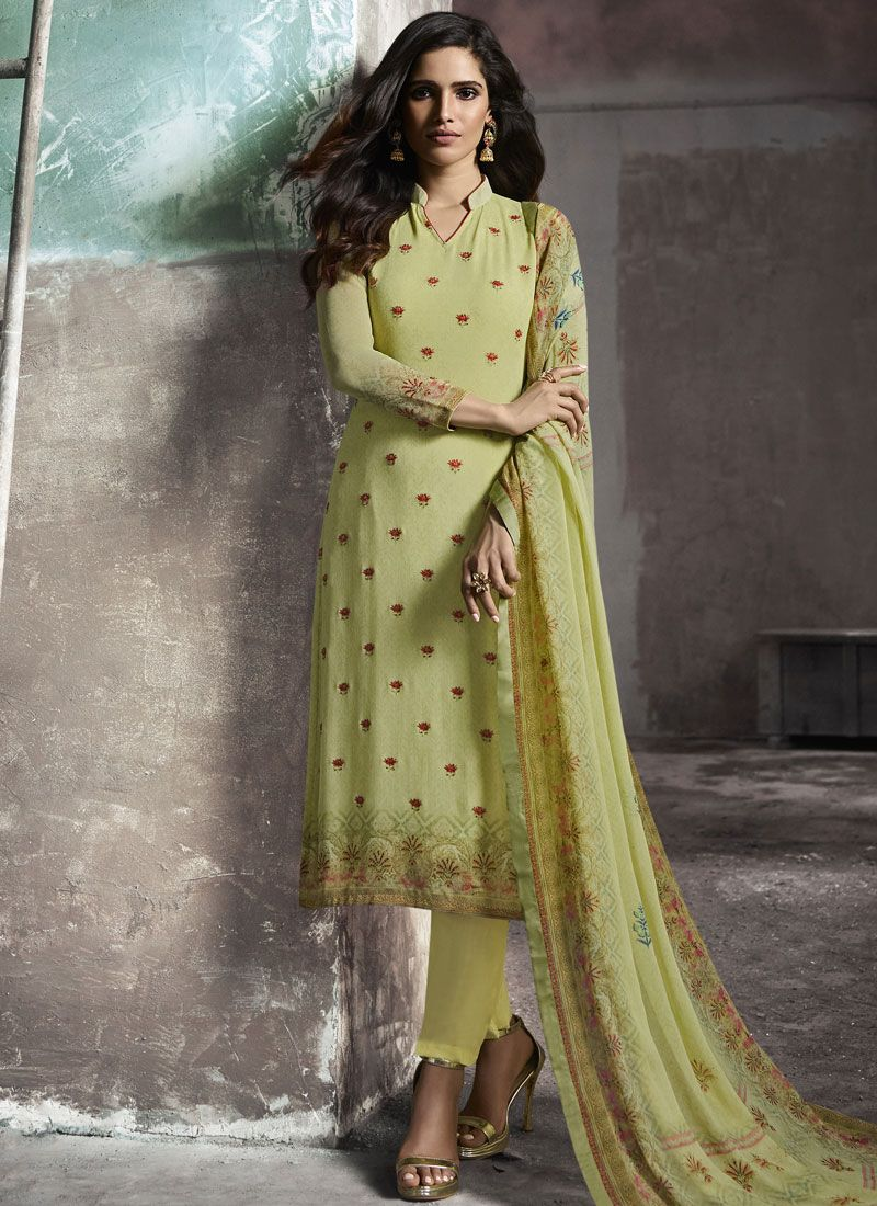 Green Pant Style Suit