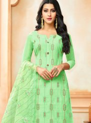 Green Party Art Silk Designer Palazzo Suit