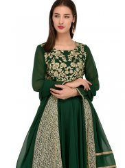 Green Party Georgette Anarkali Salwar Suit