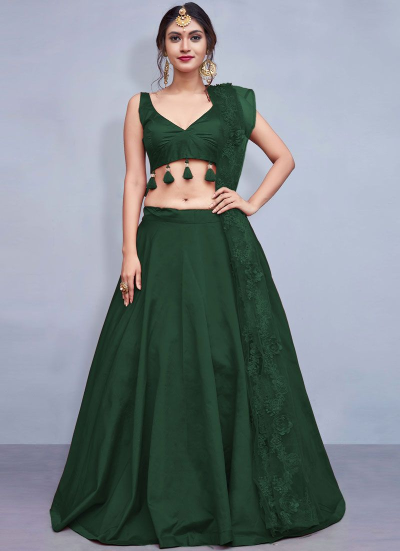 Green Readymade Lehenga Choli