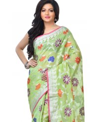 Green Reception Banarasi Silk Classic Designer Saree