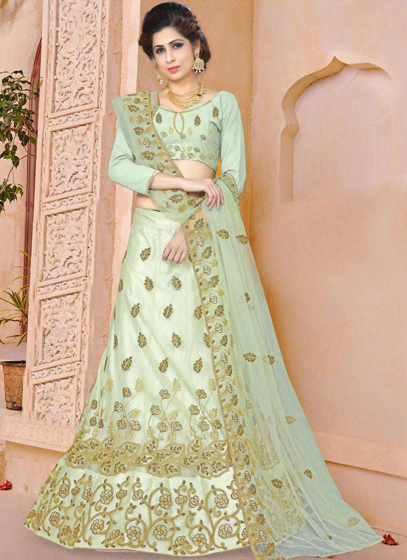 Green Sangeet Designer Lehenga Choli