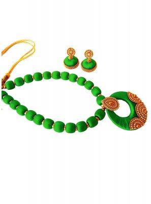 Green Sangeet Necklace Set