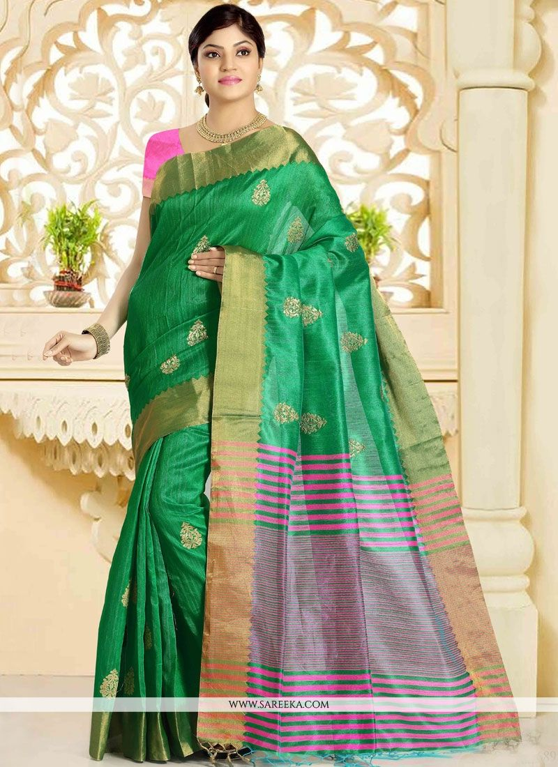 Green Traditional  Saree