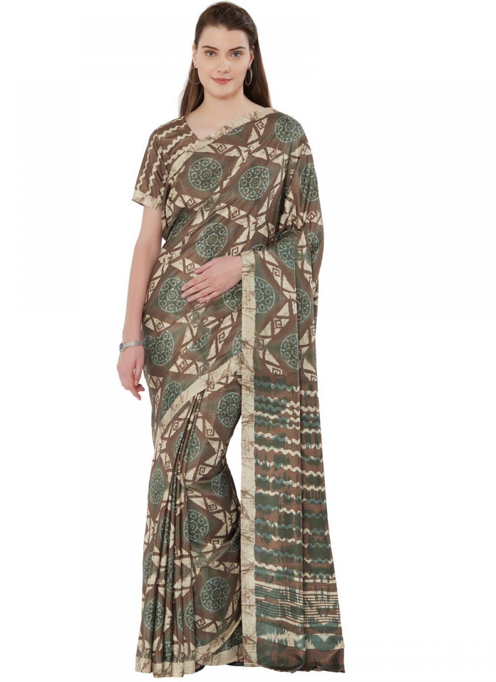 Green Tussar Silk Casual Casual Saree