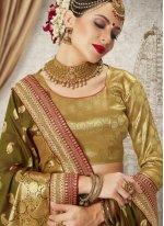 Green Weaving Art Silk Traditional Designer Saree
