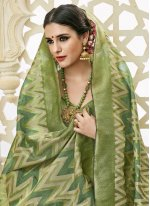 Green Weaving Work Art Silk Traditional Designer Saree