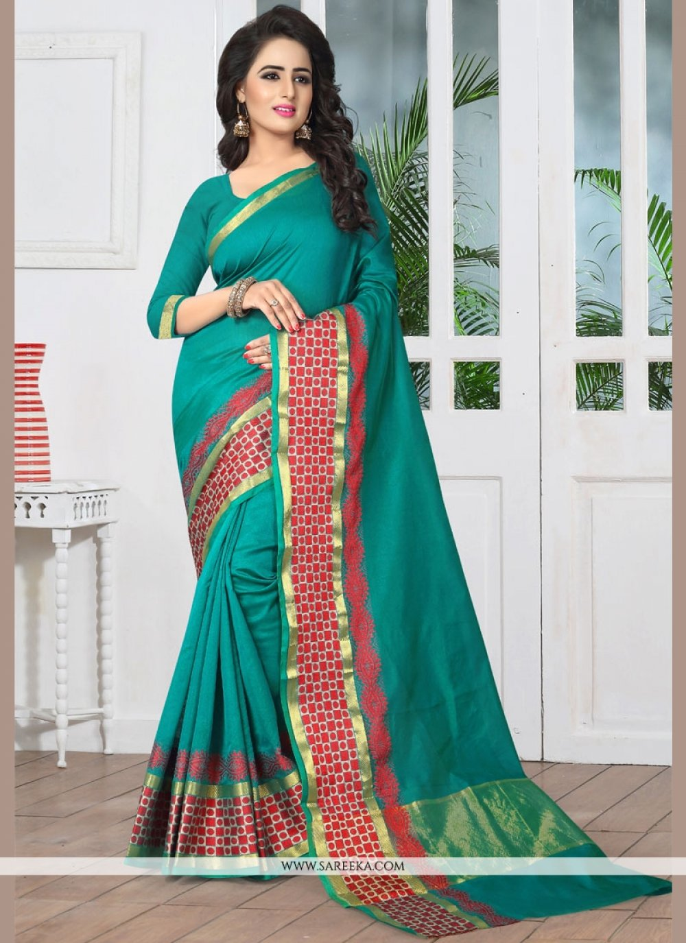 Green woven Work Banarasi Silk Designer Traditional Saree