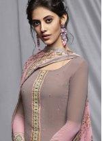 Grey and Pink Casual Salwar Kameez